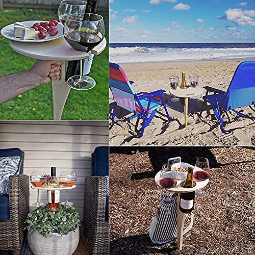 YHQ Mesa de vino portátil al aire libre Mesa de vino tinto Mesa de vino al aire libre Mesa de vino portátil Mesa de vino al aire