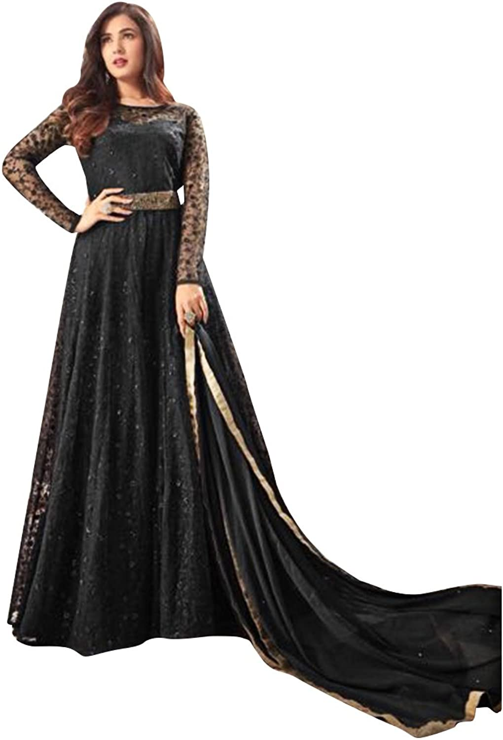 Bollywood Wedding Ceremony Long Anarkali Salwar Suit Muslim Bridal Gown Dress Ethnic 765