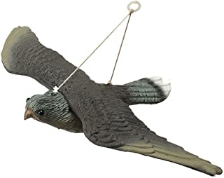 Premium Lifelike Garden Decoration Flying Hawk Fake Bird Hunting Decoy Scarer(34.5529CM)