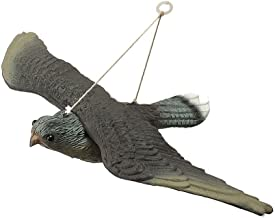 MEIBY Fake Bird Decoy,Flying Hawk Decoy Bird Deterrant,Garden Decoration Flying Hawk Fake Bird Hunting Decoy Scarer,Full Bodied Garden Cat and Bird Repeller for Outdoor Hunting