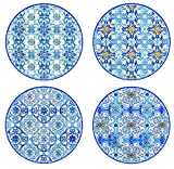 R2S 924maib Maiolica–Estuche con 4Platos Postre Porcelana Azul 19cm