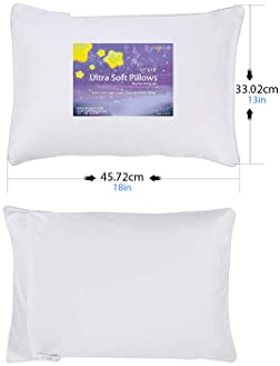 Kyapoo Toddler Pillow 13x18 with Pillowcase,100% Soft Cotton Pillow Cover,  Comfortable Sleep for Toddlers, Children ...