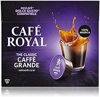 Café Royal Caffè Grande 48 capsules Compatibles avec Nescafé (R)* Dolce Gusto (R)* - Lot de 3X16 - intensité 6/10 - certif...