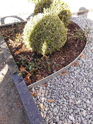 0816 Rasenkanten Metall Beeteinfassung Rasenkante verzinkt (Länge 10m-Höhe 18 cm)