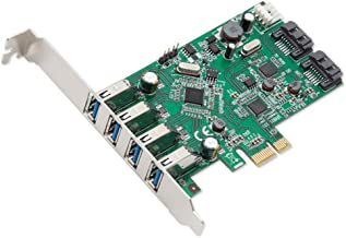 Syba 4 Port USB 3.0 and 2 Port SATA III PCIe 2.0 X 1 Card VLI/ASMedia Chipset Components Other SD-PEX50064