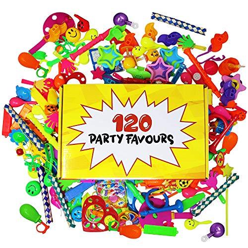 120 Giocattoli di alta qualità | Assortimento enorme | Perfetti come regalini da festa, premi di carnevale, ricompense di classe e altro | fine compleanno piccoli bomboniere | Festa di Natale