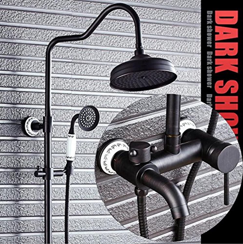 Black Bronze Shower set All copper Retro Shower Bathroom shower Set Shower faucet