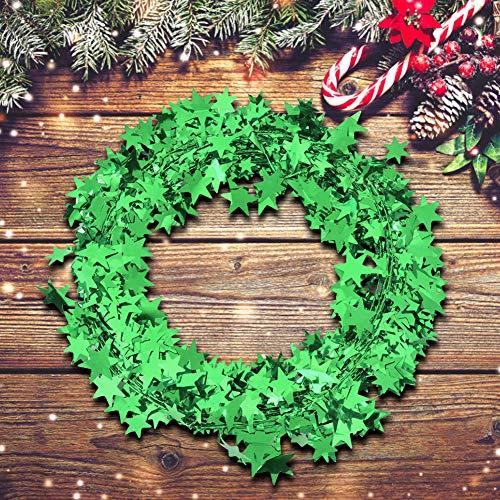 Ghirlanda di stelle da 7,5 m, decorazione per albero di Natale, decorazione per feste di matrimonio, accessori per abbigliamento, ghirlande di filo e decorazioni di stelle