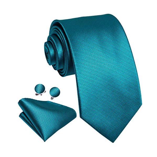 Dubulle Mens Silk Necktie and Hanky Cufflinks Set