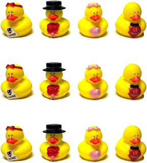 Lot Of (12) Valentine Sweetheart Rubber Ducks