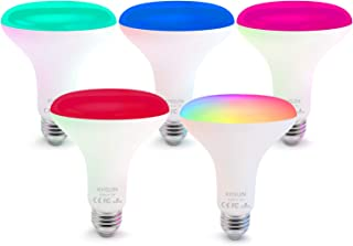 Smart Bulbs,5 Pack Alexa Light Bulbs with RGB Color Changing,2.4G WiFi Bulbs 13W BR30 Led Bulbs with E26/E27 Base,No Hub Required,Smart Light Bulb Compatible with Alexa and Google Home