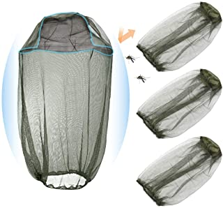 Kalevel Mosquito Head Net Face Mesh Neck Cover Set of 4 Insect Gnat Netting Outdoor Bug Shield for Fishing Camping Hiking ...