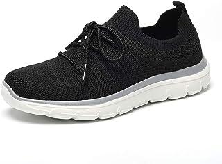 Kuzima Women's Sneaker Athletic Walking Lightweight Running Knit Slip-on Breathable Sport Shoes