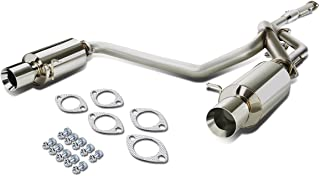 For Tiburon GK l4 Stainless Steel Dual 4 inches Rolled Tip Catback Exhaust System