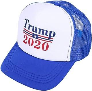 TOYANDONA Boné de beisebol Trump 2020 Hat Make America Great USA MAGA boné com bandeira dos EUA com parte traseira de malh...
