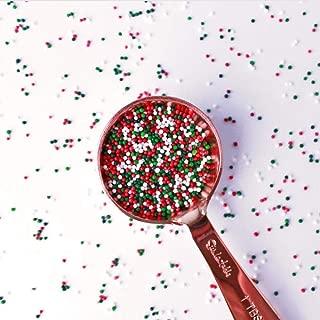 Jingle Blend Non Pariels | red| green| white |Christmas| Pariels|Sprinkle Mix, 2 OZ (sample size)