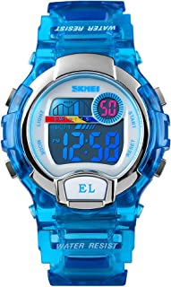 Kid's Watches Colorful Digital Waterproof Transparent...