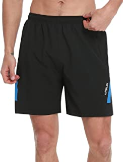 KPSUN Men's Workout Running Shorts Quick Dry Lightweight Gym Athletic UPF 50+ Hiking Shorts with Liner Zipper Pockets