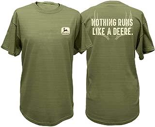 John Deere Antlers Nothing Runs Like A Deere Short Sleeve T-Shirt