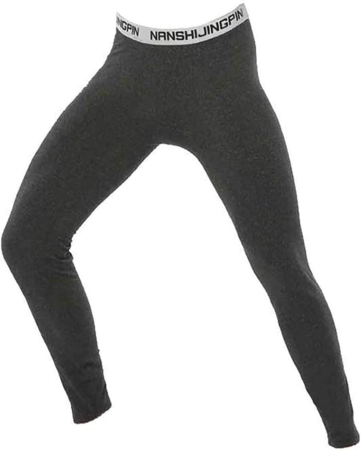 JEATHA Men's Solid Strethy Thermal Long Trousers Warmer Winter Autumn Underwear