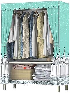 HWG Garde-Robe Portative De Vêtements Armoires en Tissu Placard De Rangement Portable avec 1 Tringle à Vêtements, 2 étagèr...