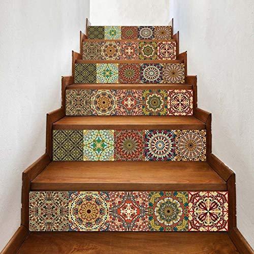GVRPV 3D Pegatinas para escaleras6 Piezas de Papel Tapiz de PVC Simple de Pegatinas de Escalera de Bricolaje Pegatinas de Paso Pegatinas de Pared