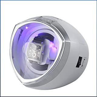Single Automatic Watch Winder with Quiet Motor, Antimagnetic design, low energy consumption4 Rotation Mode Settings.