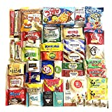 Excellent Korean Snack Box 40 Count Individual Wrapped Essentials Sample Packs of Candy, Snacks, Chips, Cookies, Treats for Kids, Children, College Students, Adult and Senior treat 40 pack