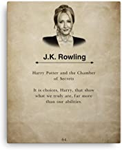 H+CO Inspired - J.K. Rowling - Canvas Wall Art Book Quote Print- H Potter - 16inch x 20inch - Perfect Gift for Potter Fans …