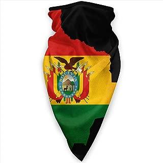 Bolivia Grunge Flag Map Outline Face Mask Neck Gaiters Bandana Scarf Balaclava Multifunctional Headwear for Outdoor Sports Black