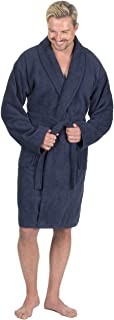 Men's Towelling Bath Robe - Cotton Terry Cloth Shawl Collar Dressing Gown