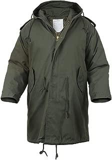 Olive Drab Military Style M-51 Fishtail Parka Jacket