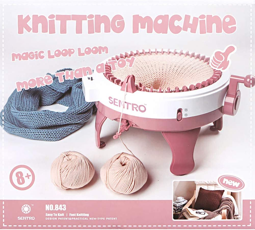 40PINS Knitting Machine 22//40//48 Needles Smart Weaving Round Loom Knitting Machines Knitting Board Rotating Double Knit Loom Machine Kit for Adults//Kids DIY Knit Scarf Hat Sock
