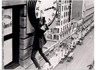 GREATBIGCANVAS Poster Print Harold Lloyd - B&W Safety Last 2 by 40