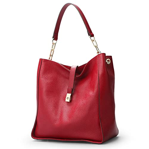 9b44bf0bf4da Amazon.com  Women Genuine Leather Top-handle Bags  Full-grain Cowhide Hobo  Bags Supple Totes Bags Casual Satchels  Shoes