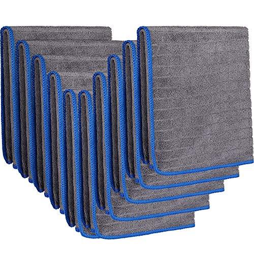 EASY EAGLE 10X Mikrofasertücher 40x40cm, 380GSM Trockentücher für Autopflege