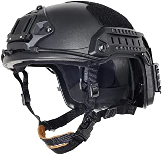 Lancer Tactical Large - X-Large Industrial ABS Plastic Constructed Maritime Helmet Adjustable Crown with 20mm Side Rail Adapter Velcro Padding NVG Shroud Bungee Retention
