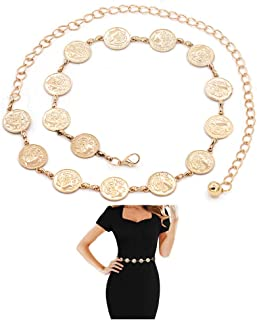 Daycindy Boho Coin Tassel Waist Chain Belly Jewelry for Women
