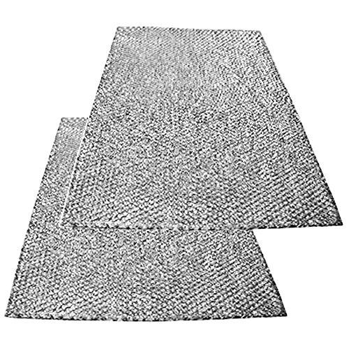 SPARES2GO groot aluminium gaasfilter voor Bauknecht afzuigkap/afzuigkap Ventilator Ventilator (Pak van 2 filters, 89 x 48 cm)