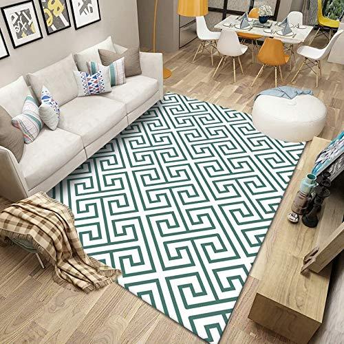 CCBAO Geometrische Teppichmatten Im Modernen Stil Wohnzimmer Schlafzimmer Veranda Großflächig Überdachter Teppich Verdickte rutschfeste Fußmatten