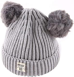 Sameno Baby Warm Hat Winter,Fashion Baby Girl Boy Keep Warm Hat Fur Ball Knitted Wool Hemming Cap