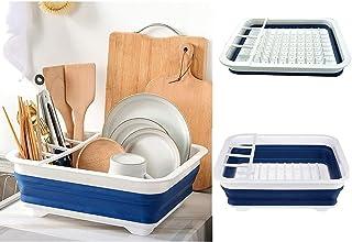 Égouttoir pliable DLD Premium - Égouttoir pliable durable - Économisez de l'espace de voyage, petite cuisine, camping, ten...