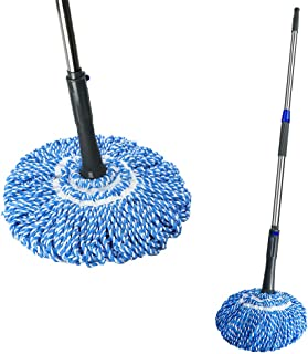 Self- Wringing Twist Mop with Stainless Steel Handle Retractable Hands for House Floors
