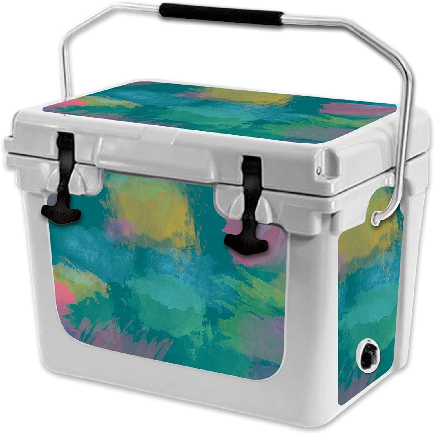 MightySkins Skin Compatible with RTIC 20 Cooler (2017 Model)  Watercolor blueee   Predective, Durable, and Unique Vinyl Decal wrap Cover   Easy to Apply, Remove, and Change Styles   Made in The USA