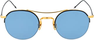 Luxury Fashion | Thom Browne Mens TB903BTNVYGLD4918K Gold Sunglasses | Fall Winter 19