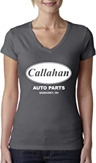 Wild Bobby Callahan Auto Parts Sandusky Ohio Retro 90s Funny Tommy Boy | Womens Pop Culture Junior Fit V-Neck Tee