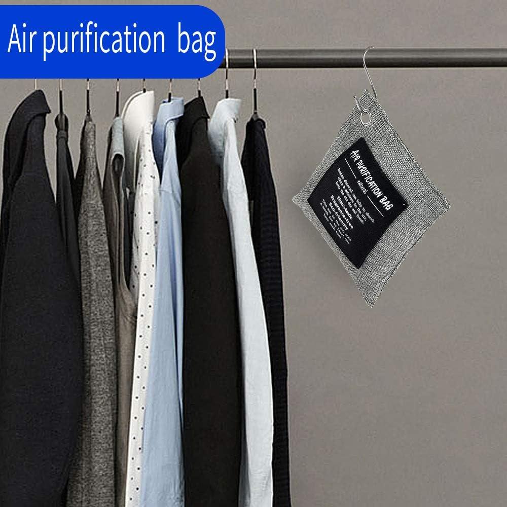 Long Lasting Activated Charcoal Deodorant Charcoal Bag Household Car Closet Pets Office Basement Fresh Air Air Purifier Bag 8x200g 8Pack Helper Bamboo Charcoal Air Purifying Bag