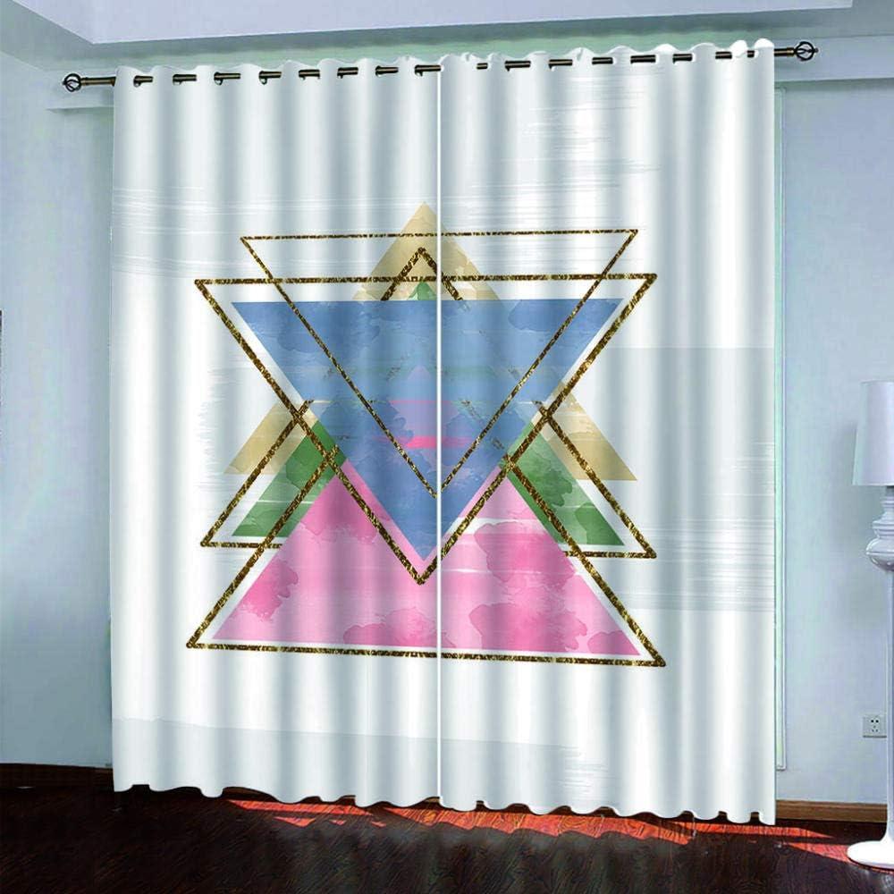SDSONIU Genuine Free Shipping Nursery Curtains 3D Simple fo Triangle Drapery Max 78% OFF Geometric