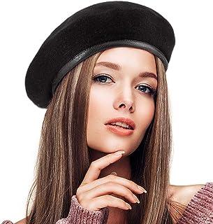 LADYBRO British Military Berets for Men - Women Warm Knit Beret Hat Spring Hat Soft