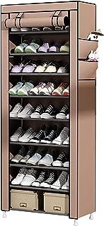 Gutsbox Regał na buty z pokrywą, 10 półek, 9 półek, pyłoszczelny, na 30 par butów, 58 x 28 x 160 cm